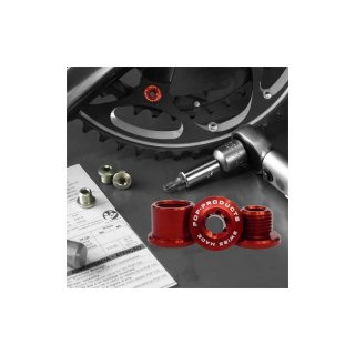 ChainRingBolts-2rings5holes Red